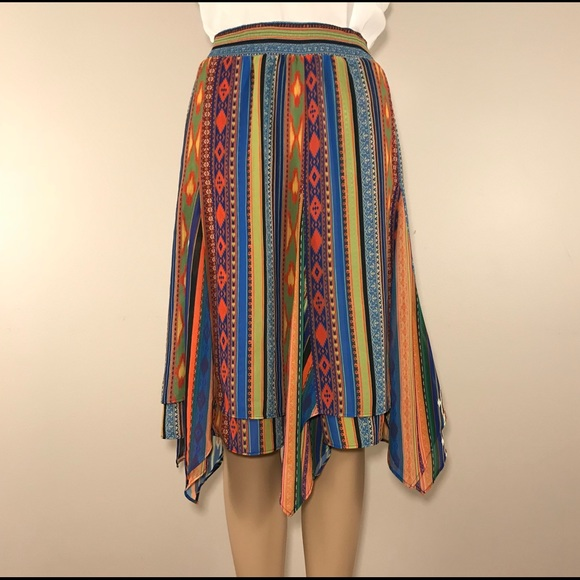 Soft Surroundings Dresses & Skirts - 💥SOLD💥Soft Surroundings Skirt Aztec Southwestern